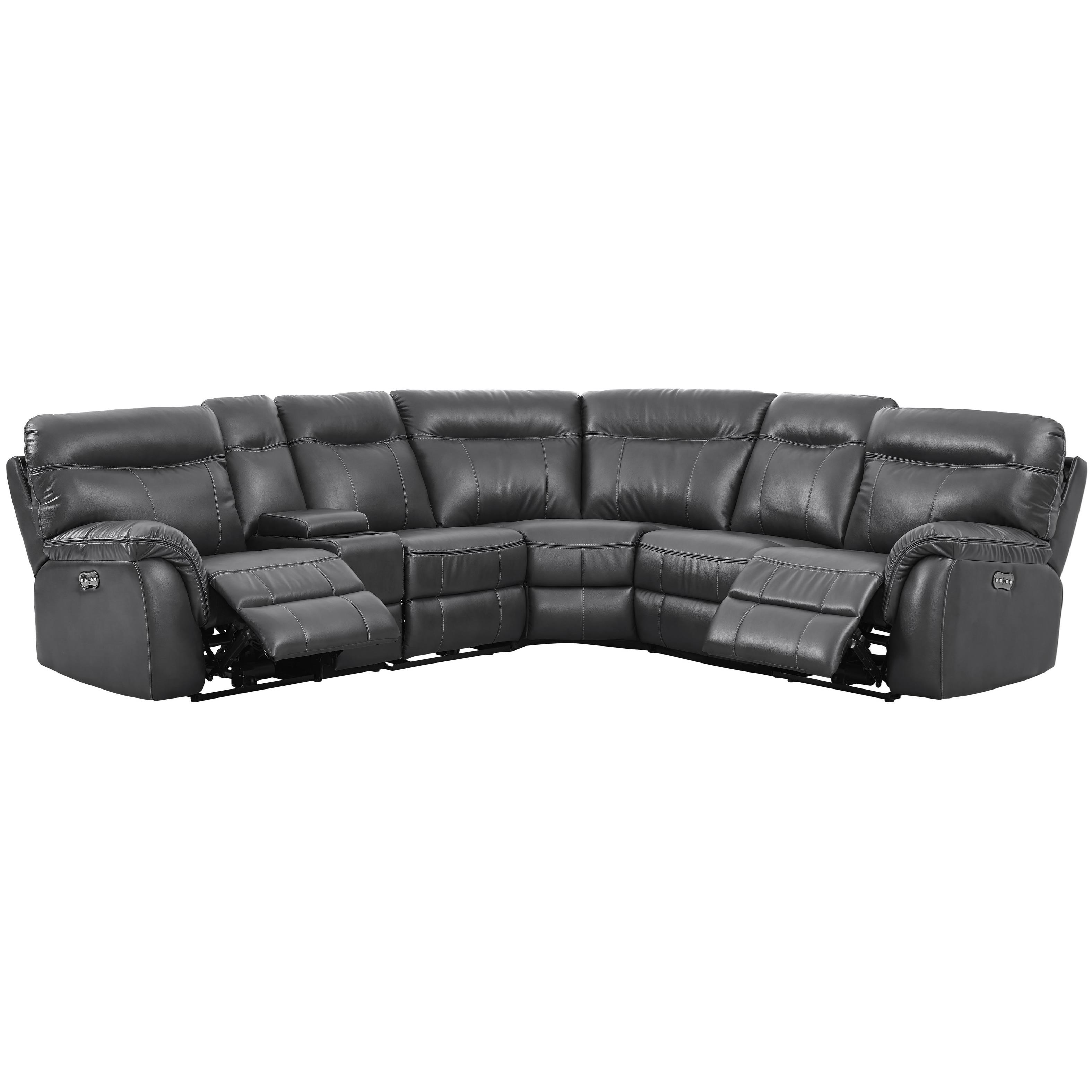 Atlas 5 Seat Power Sectional by New Classic at Beds N Stuff
