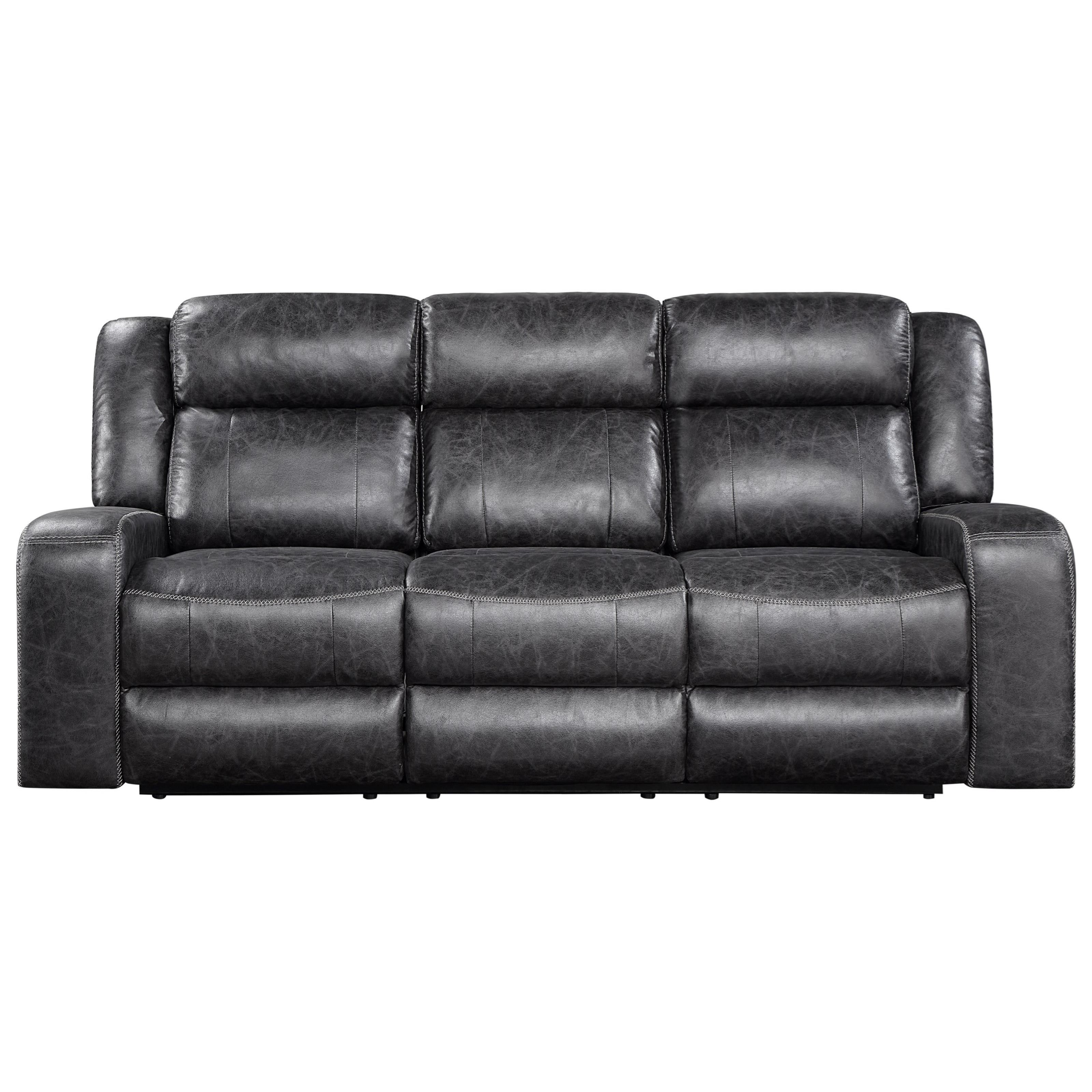Atticus Dual Recliner Sofa by New Classic at Beds N Stuff