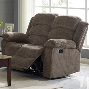 Casual Reclining Loveseat with Bustle Back