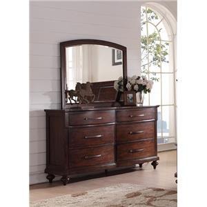 New Classic La Jolla Dresser and Mirror