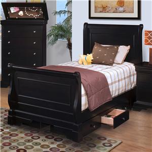 Twin Sleigh Bed w/ Underbed Storage