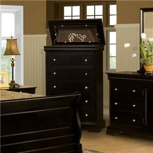 Five Drawer Chest with Lift Top
