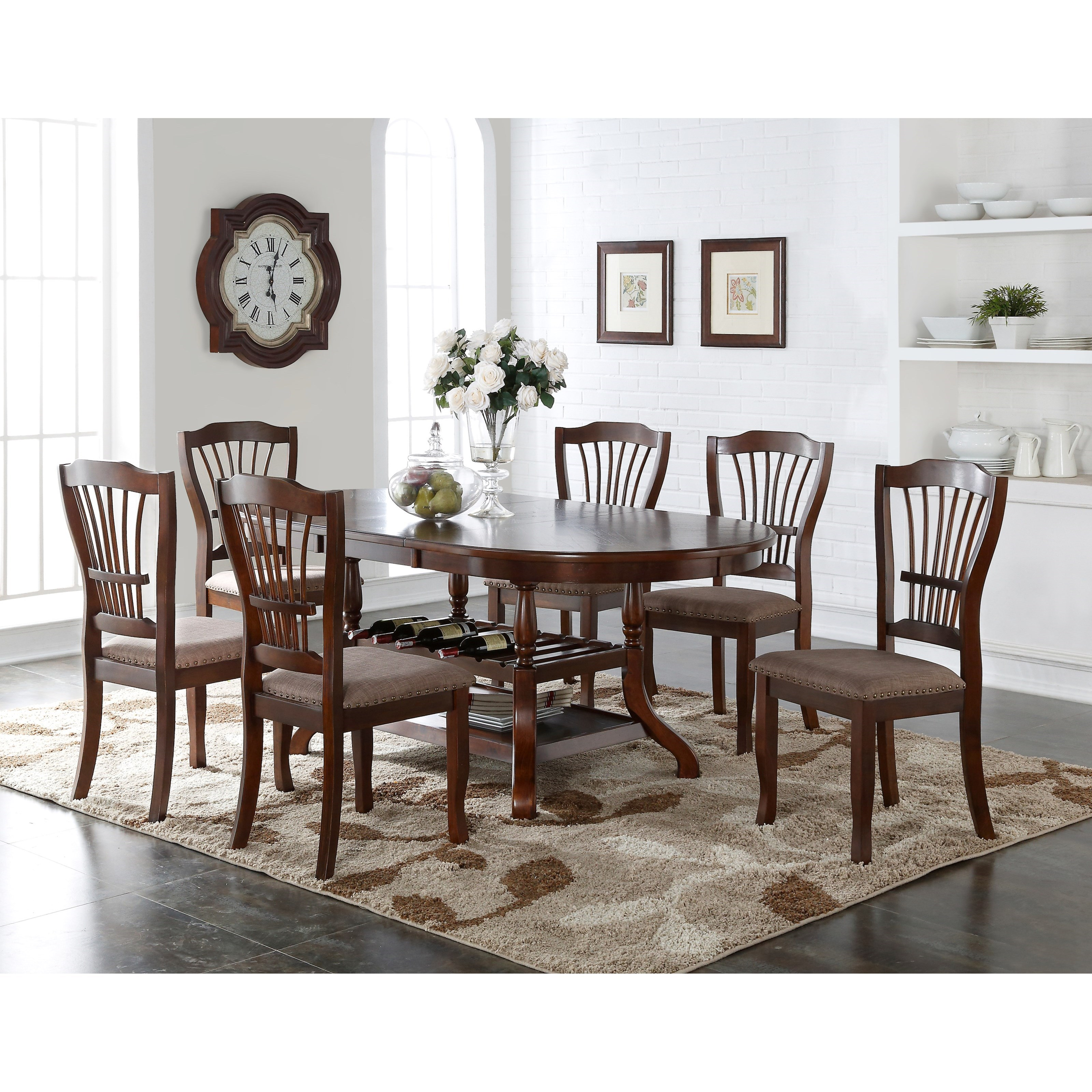 Bixby 7 Piece Dining Table Set by New Classic at Darvin Furniture