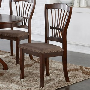 Dining Side Chair with Upholstered Seat Cushion and Nailhead Trim