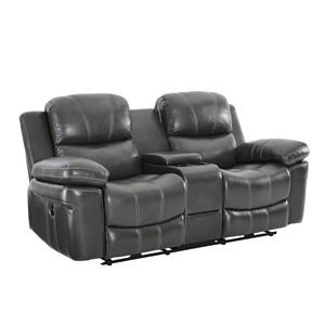 Power Reclining Console Loveseat With USB Port