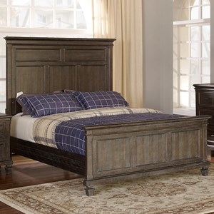 Transitional Queen Bed with Headboard USB Charging Ports