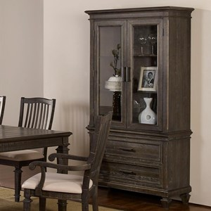Transitional Wine Cabinet with Touch Lighting
