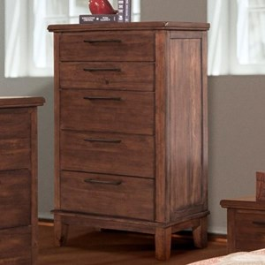 Transitional 5 Drawer Chest of Drawers with Felt Lined Top Drawer