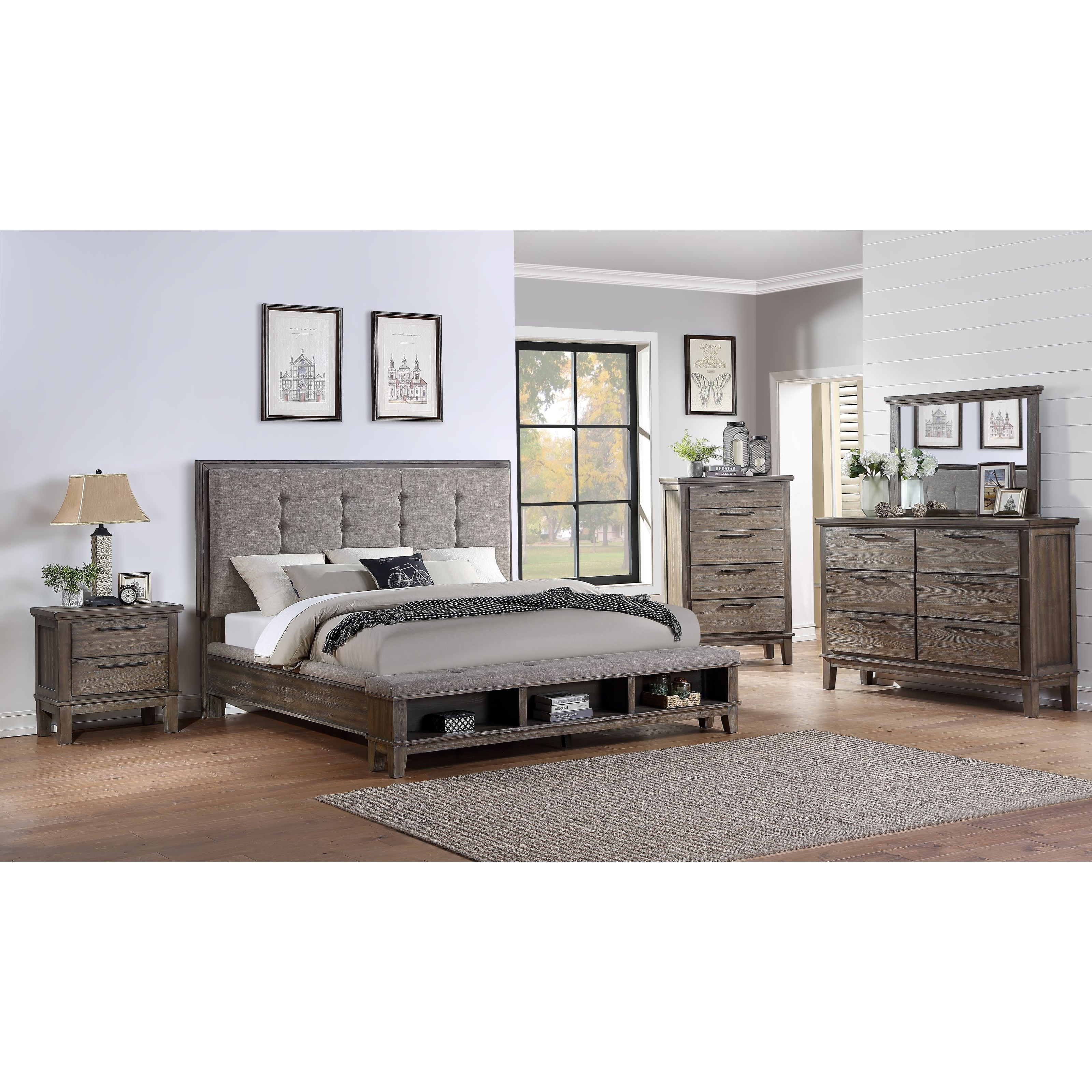Cagney Queen Bedroom Group - No Chest by New Classic at Beck's Furniture