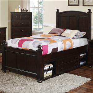 Transitional Twin Panel Bed with Storage