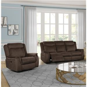 Reclining Sofa & Glider Recliner Living Room Group