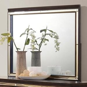 Rectangular Mirror with Built-in Lighting