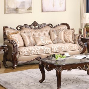 Traditional Sofa with Button Tufting