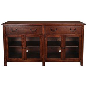 """65"""" TV Console with Glass Doors"""