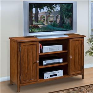 Entertainment TV Console with Doors and Shelves