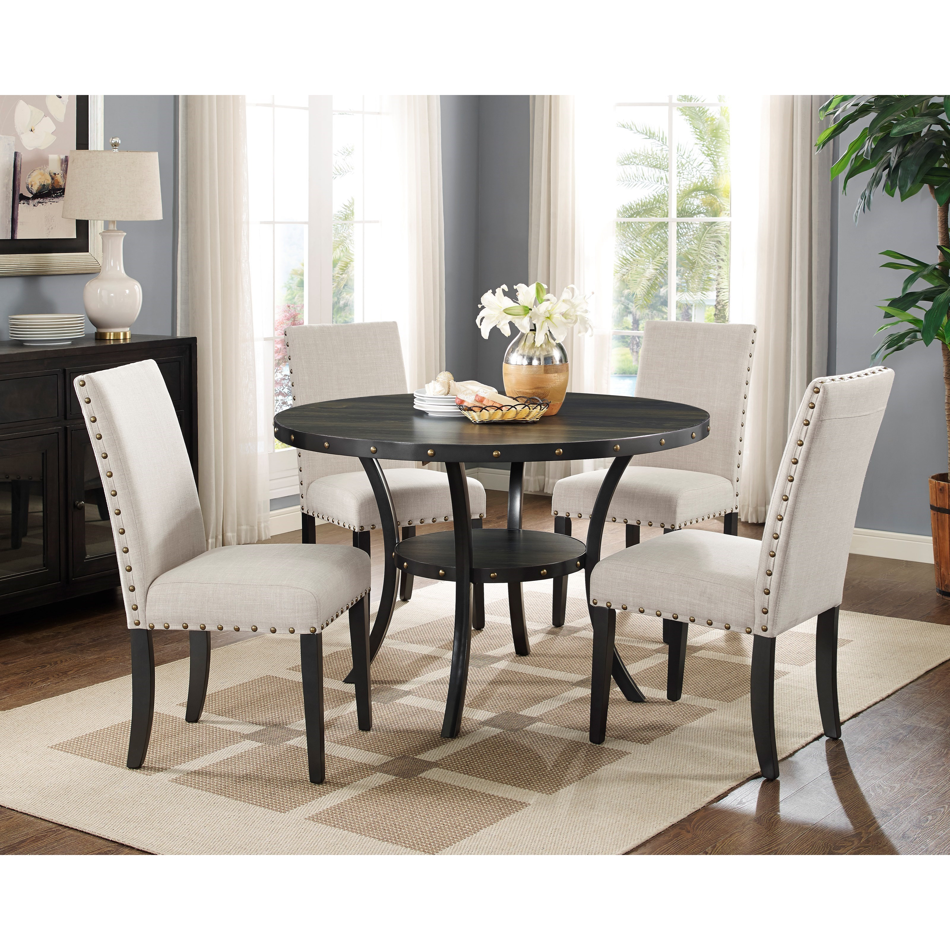 Crispin 5-Piece Table and Chair Set by New Classic at Beds N Stuff