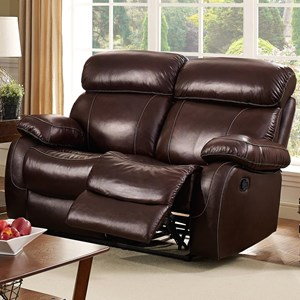 Casual Reclining Loveseat with Pillow Arms