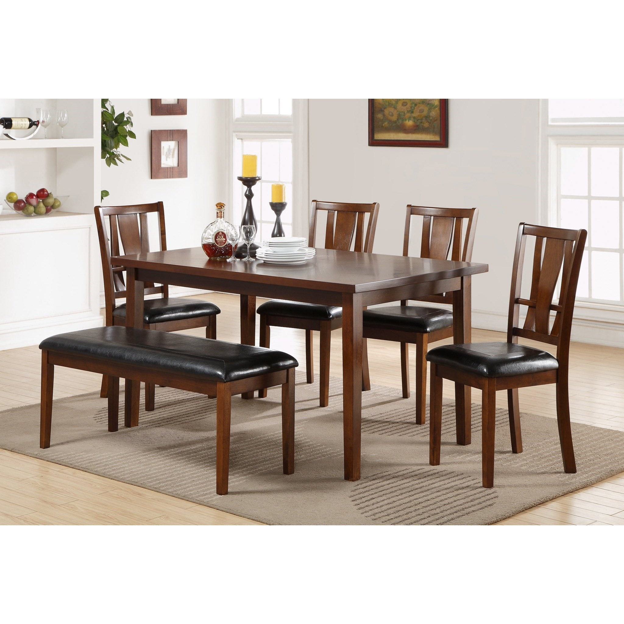 Dixon Dining Set with Bench by New Classic at Beds N Stuff