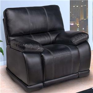 Contemporary Glider Recliner with Pillow Arms