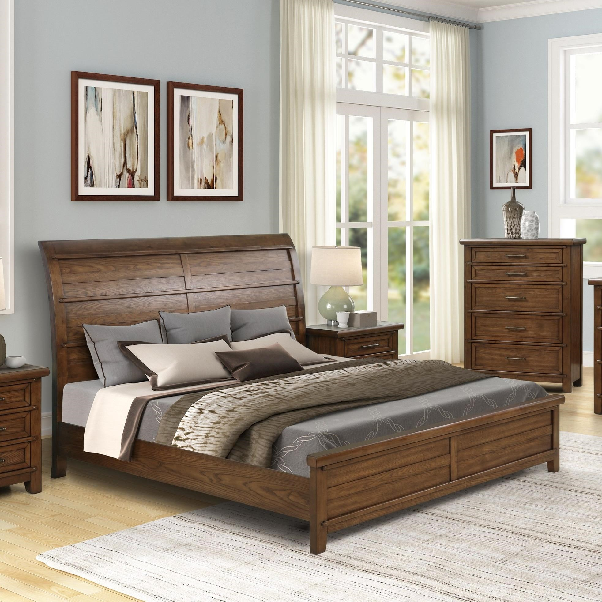 Fairfax County Queen Sleigh Bed by New Classic at Beds N Stuff