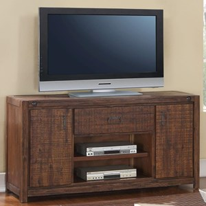 """60"""" Entertainment Console with Two Door and One Drawer"""
