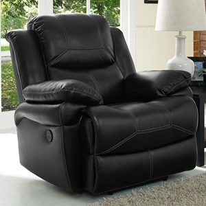 Contemporary Power Glider Recliner with Pillow Arms