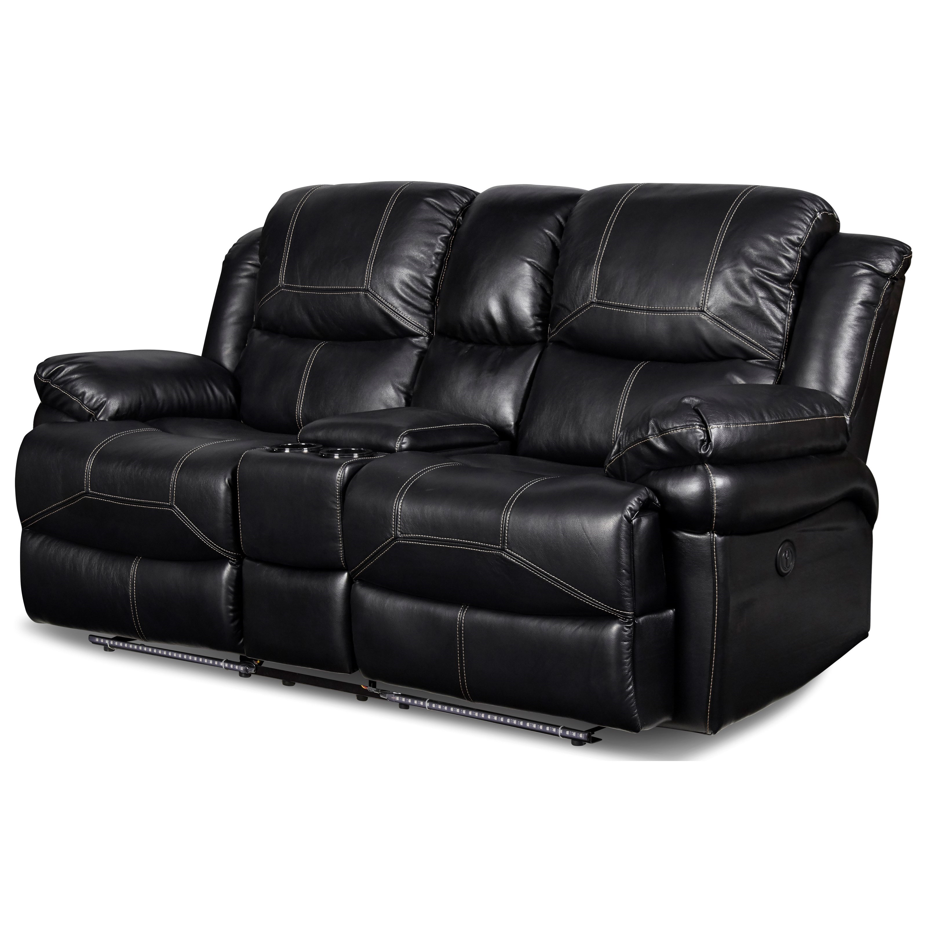 Flynn Power Reclining Loveseat by New Classic at Beds N Stuff