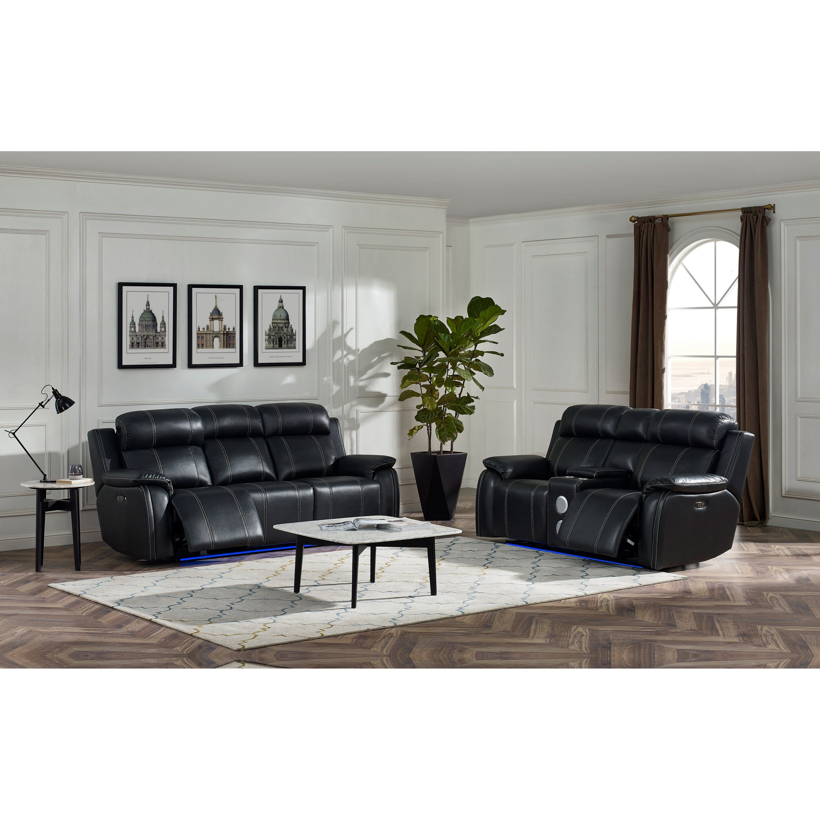 Fusion Reclining Living Room Group by New Classic at Rife's Home Furniture