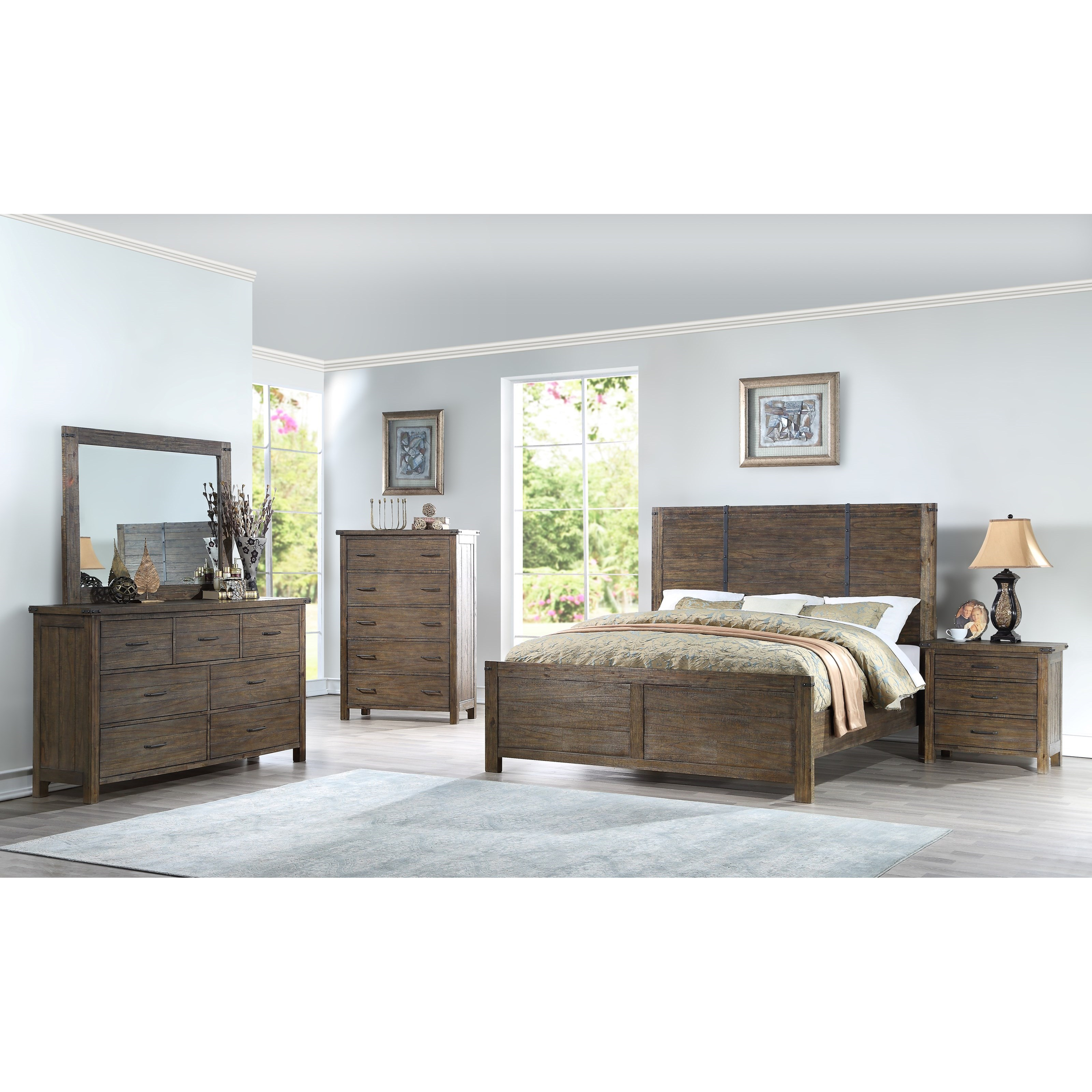 Leon 5 Piece King Bedroom Group by NC at Walker's Furniture