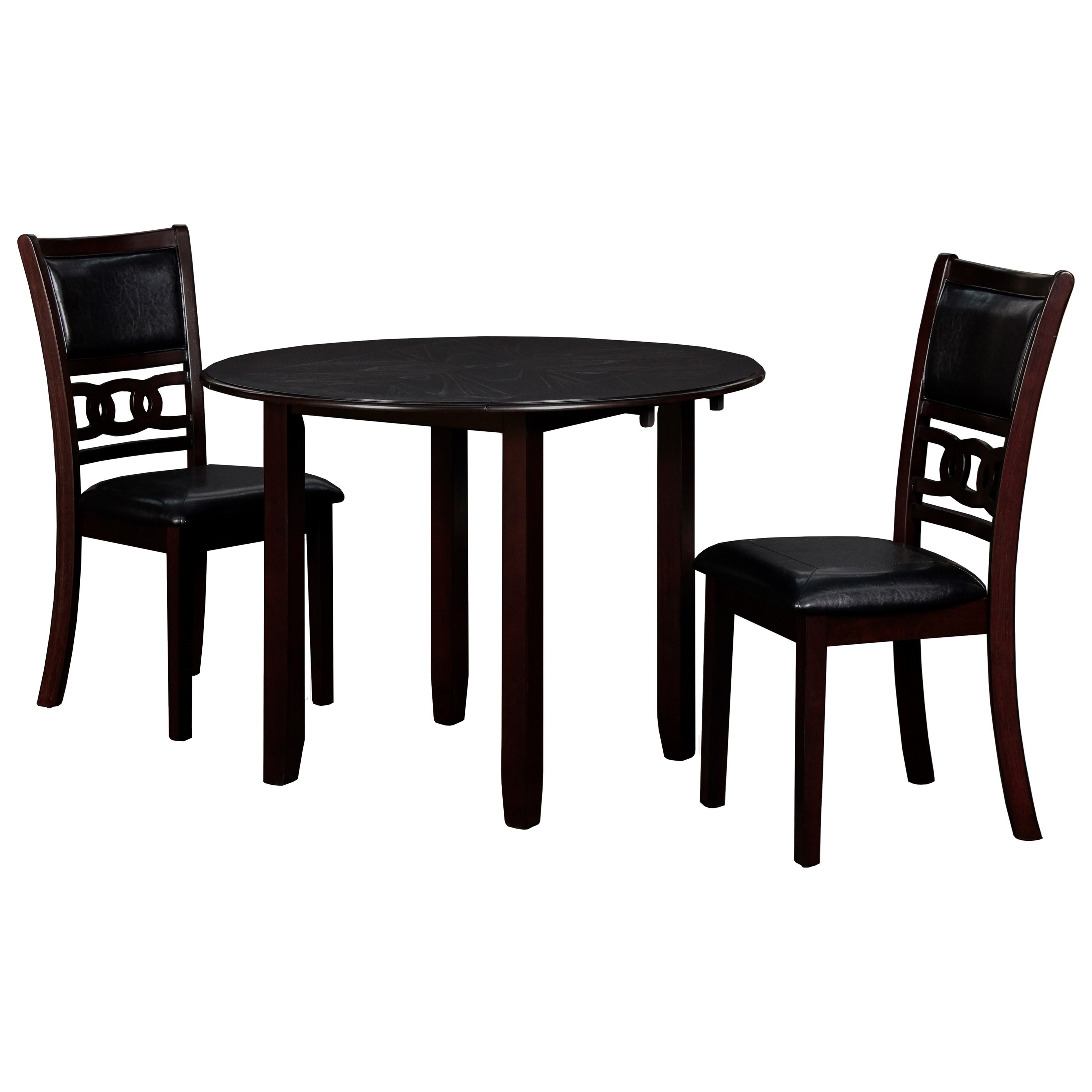 Gia 3-Piece Table and Chair Set by New Classic at Beds N Stuff