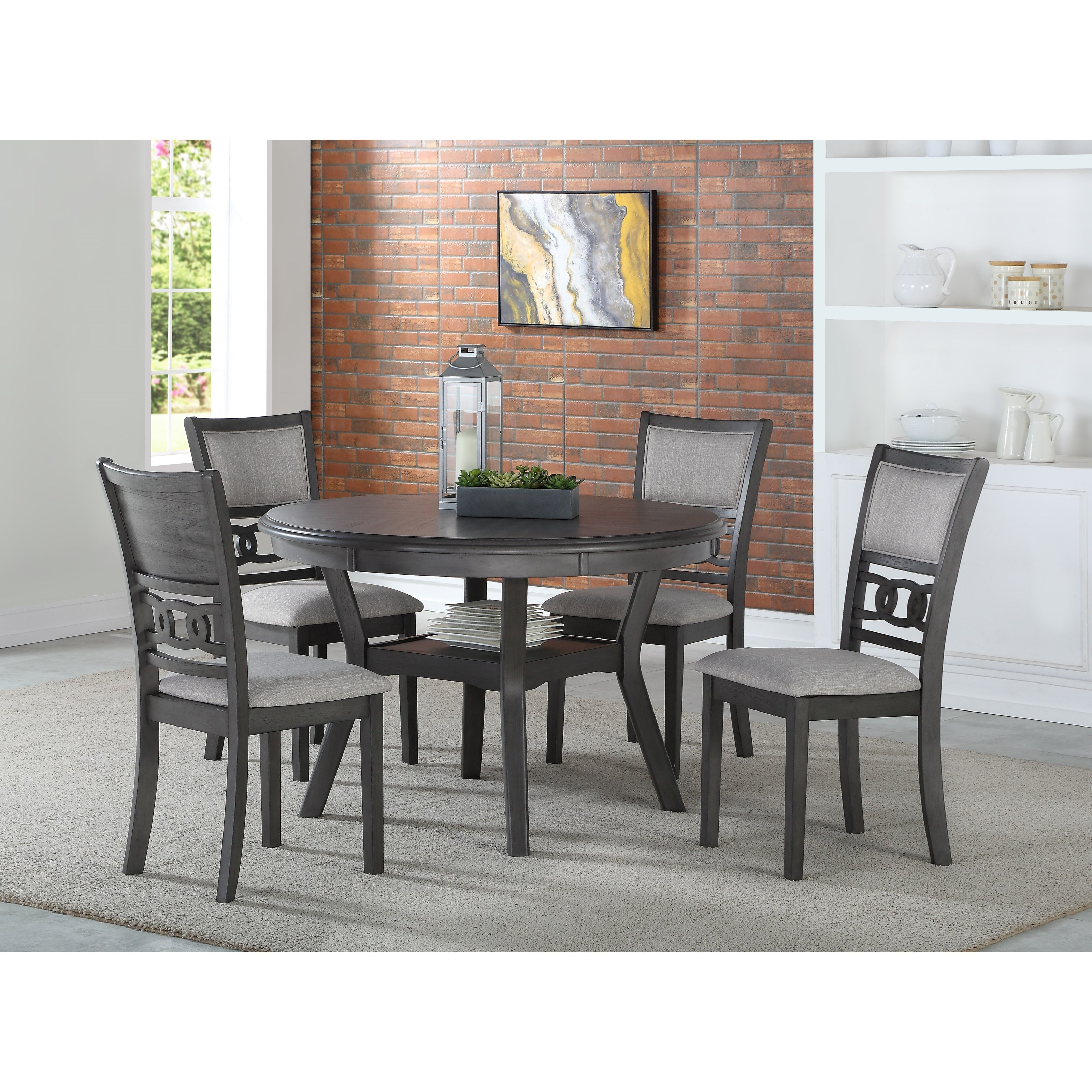 Gia Dining Table and Chair Set with 4 Chairs by New Classic at Beck's Furniture