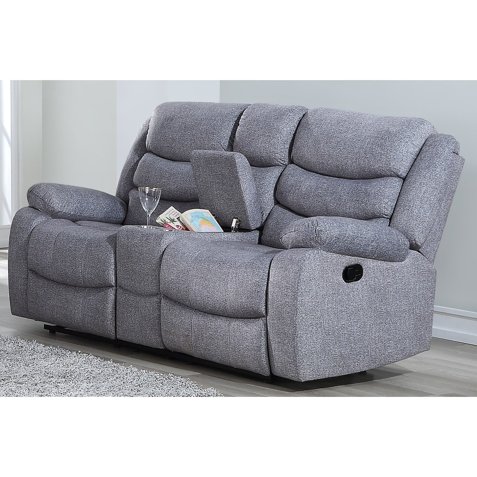 Granada Power Console Loveseat by New Classic at Rife's Home Furniture