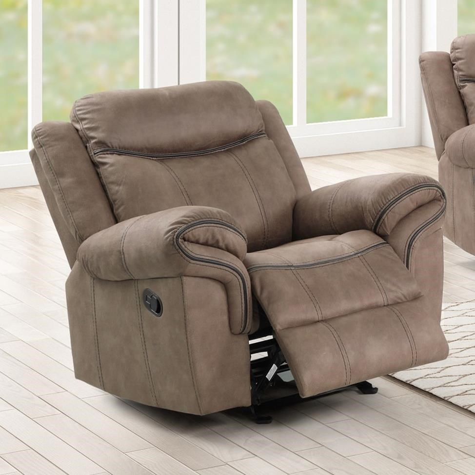 Harley Power Glider Recliner by New Classic at Rife's Home Furniture