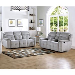 Power Reclining Sofa and Loveseat Set