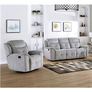 Reclining Sofa and Glider Recliner Set