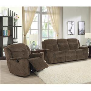 Power Reclining Sofa and Glider Recliner Set