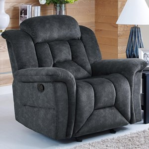 Casual Power Glider Recliner with Full Chaise Cushion
