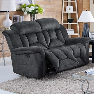 Casual Power Dual Recliner Loveseat with Pillow Arms
