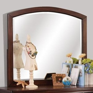 Youth Dresser Mirror with Arched Frame