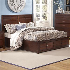 Queen Low-Profile Bed with Storage Footboard