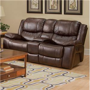 Casual Dual Recliner Console Loveseat with Cup Holders and Storage Drawer