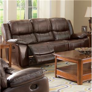 Casual Dual Recliner Sofa with Bustled Seat Back