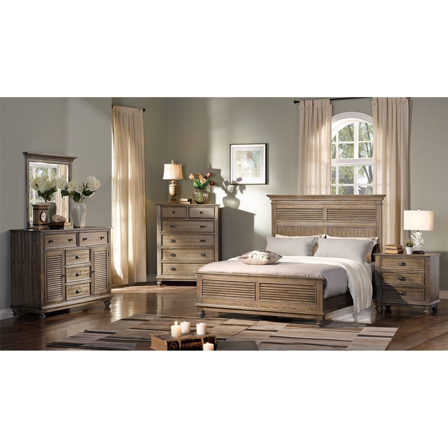 Lakeport Pewter Queen Bedroom Group by New Classic at Rife's Home Furniture