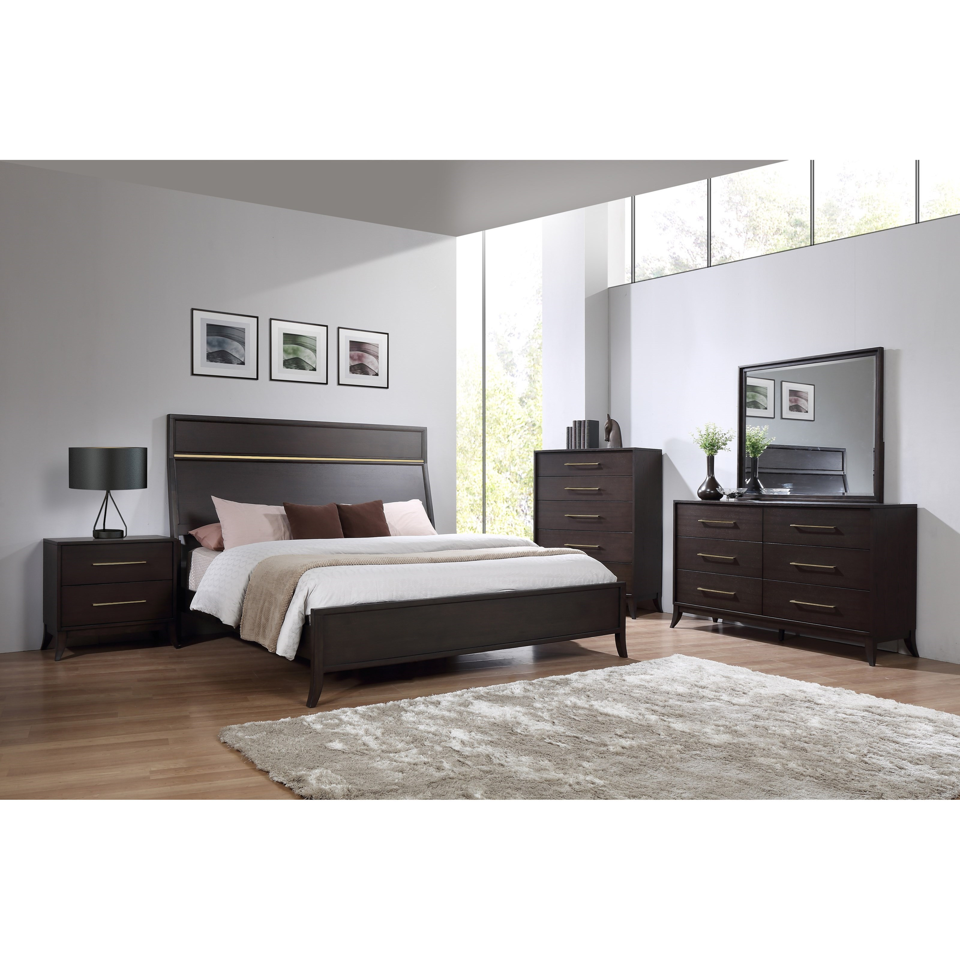 Logan Square California King Bedroom Group by New Classic at Wilcox Furniture