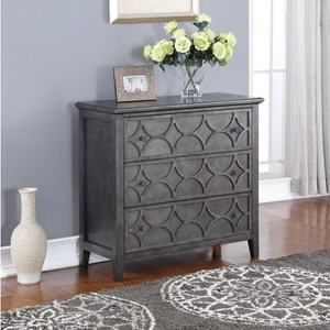Lucia Storage Console Table with Antiqued Finish