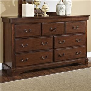 Seven Drawer Dresser with Hidden Storage