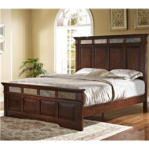 Queen Bed with Slate Inserts