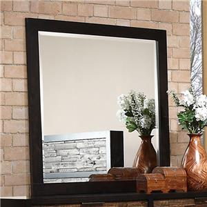 Square Dresser Mirror with Beveled Glass