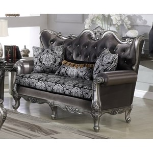 Glam Loveseat with Button Tufting