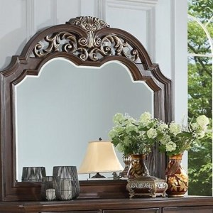 Carved Dresser Mirror